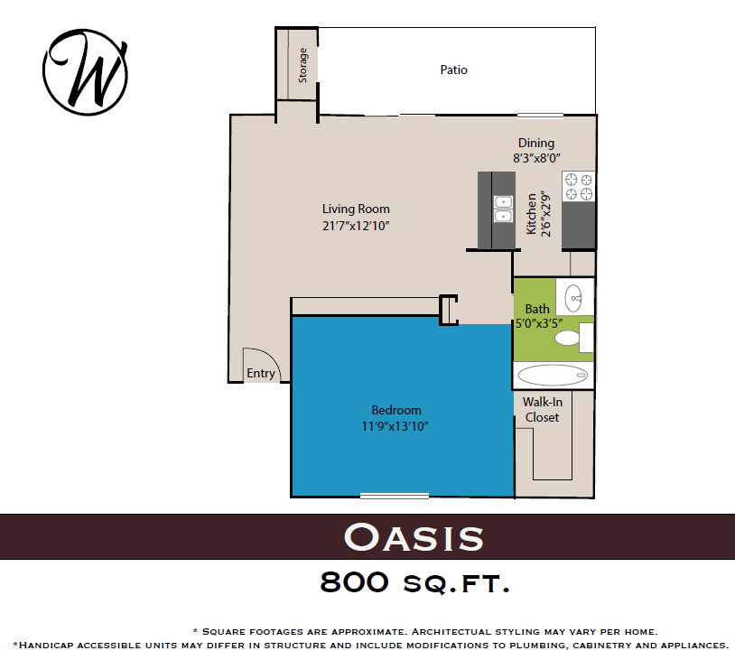 Waters at Barton Creek - Floorplan - Oasis