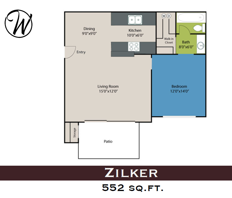 Waters at Barton Creek - Floorplan - Zilker