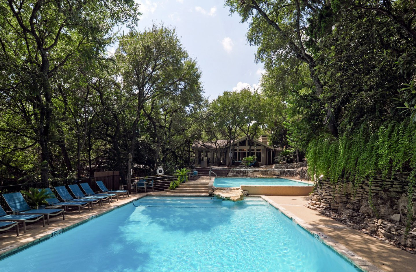 Lagoon-Like Swimming Pool at Waters at Barton Creek Apartments in Austin, TX
