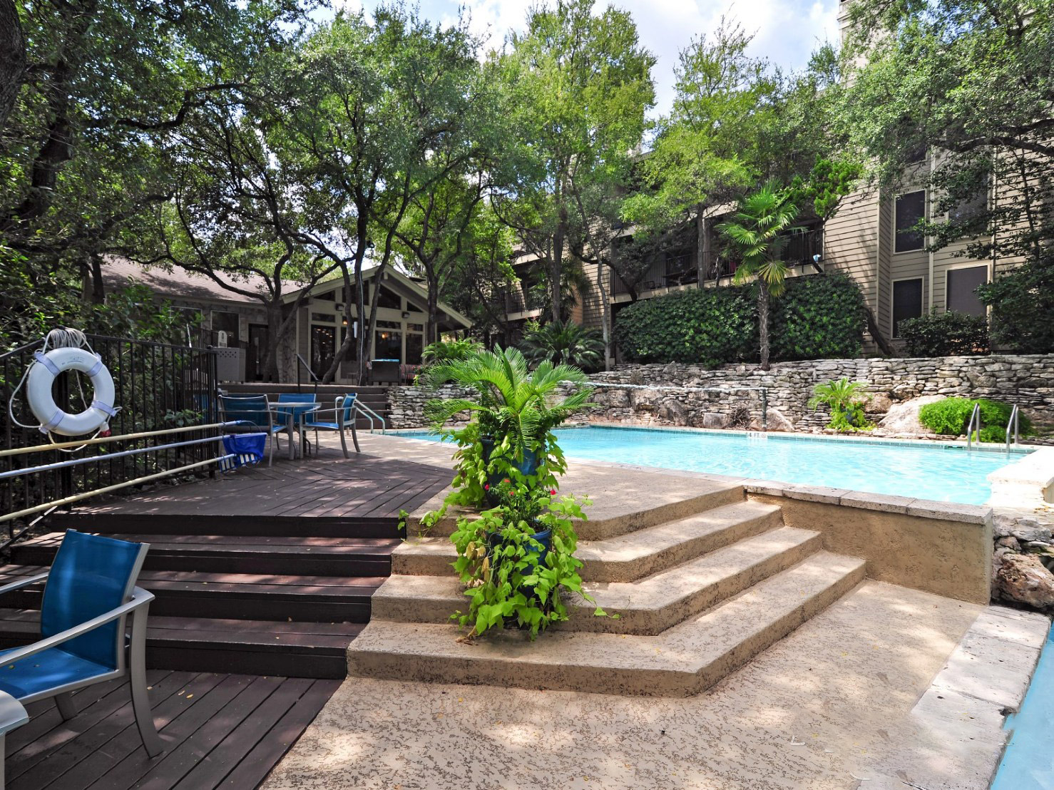 Relaxing Pool Area at Waters at Barton Creek Apartments in Austin, TX