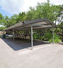 Covered Carport at Waters at Barton Creek Apartments in Austin, TX
