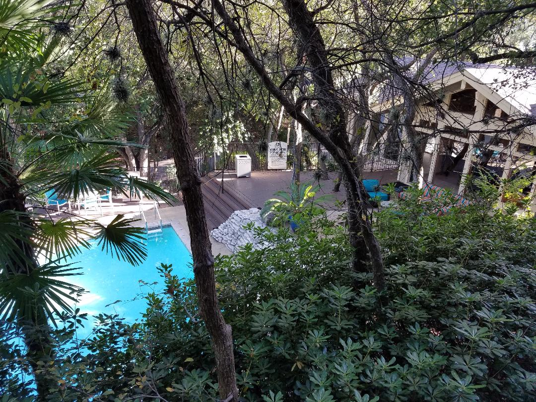 Beautiful Pool Views at Waters at Barton Creek Apartments in Austin, TX