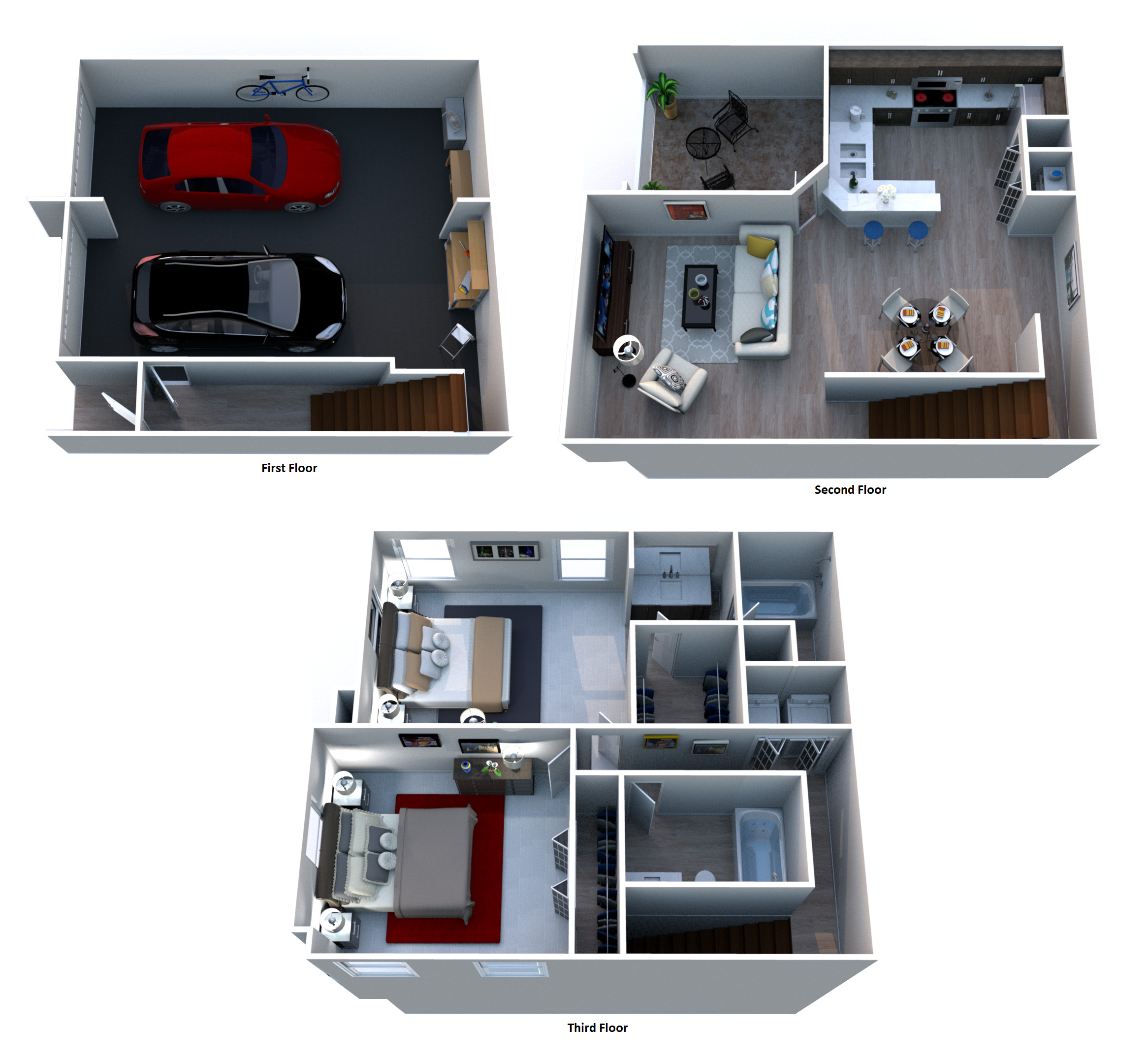 Windsor Castle Luxury Rental Community - Floorplan - B2 Marseille - Townhouse