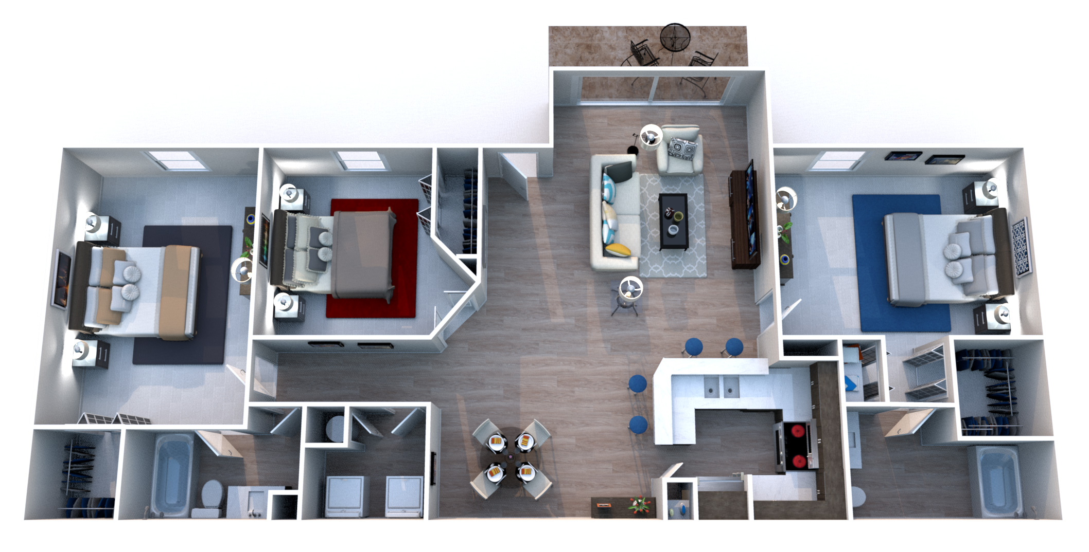 Windsor Castle Luxury Rental Community - Floorplan - C1 Corsican Villa