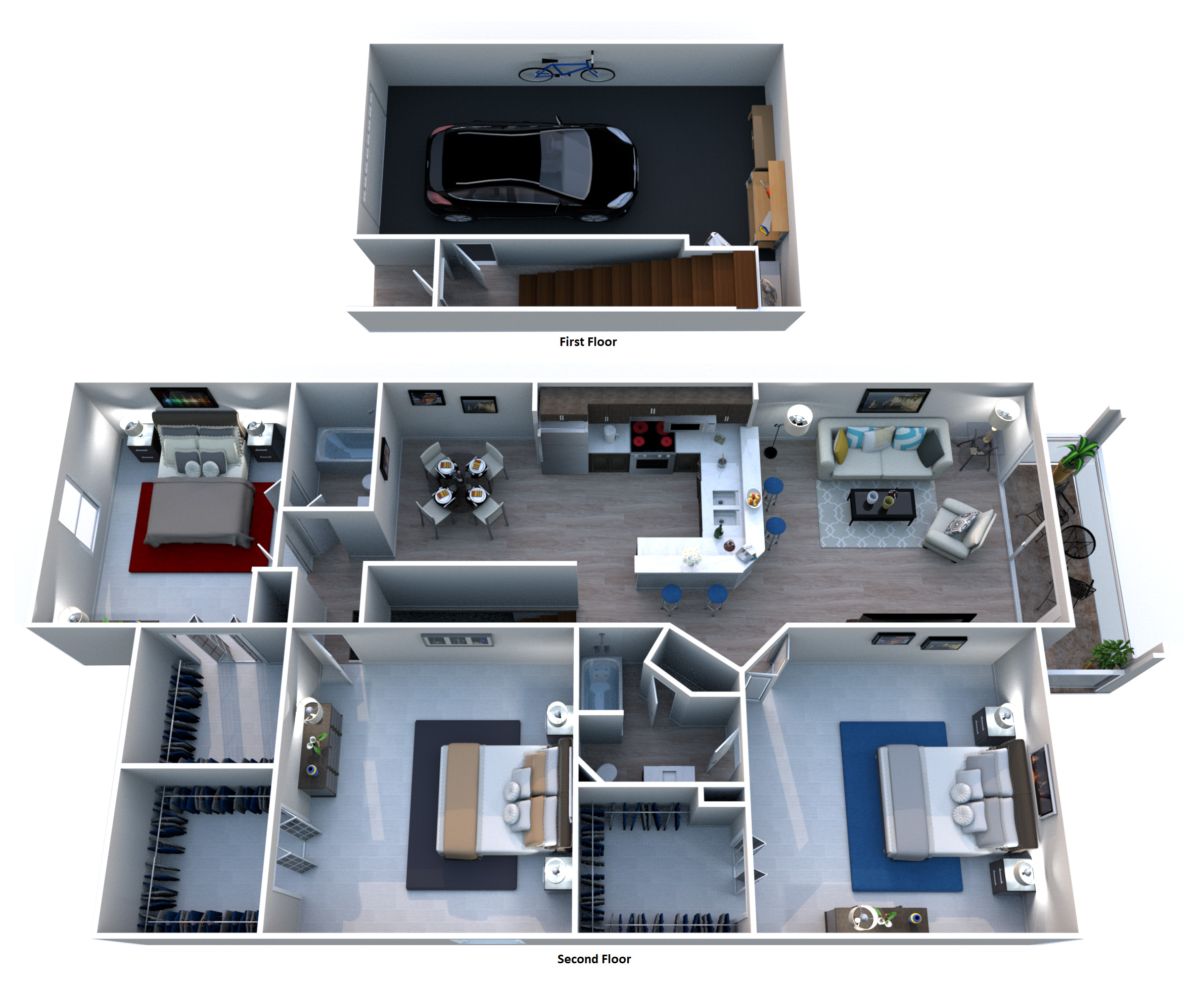 Windsor Castle Luxury Rental Community - Floorplan - C2 Portofino - Townhouse