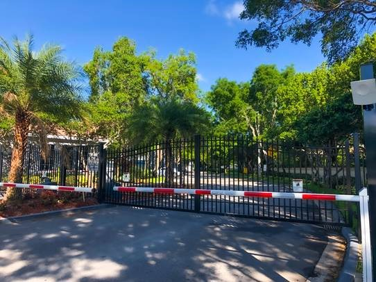 Entrance gate at Windsor Castle Apartments in Coral Springs, Florida