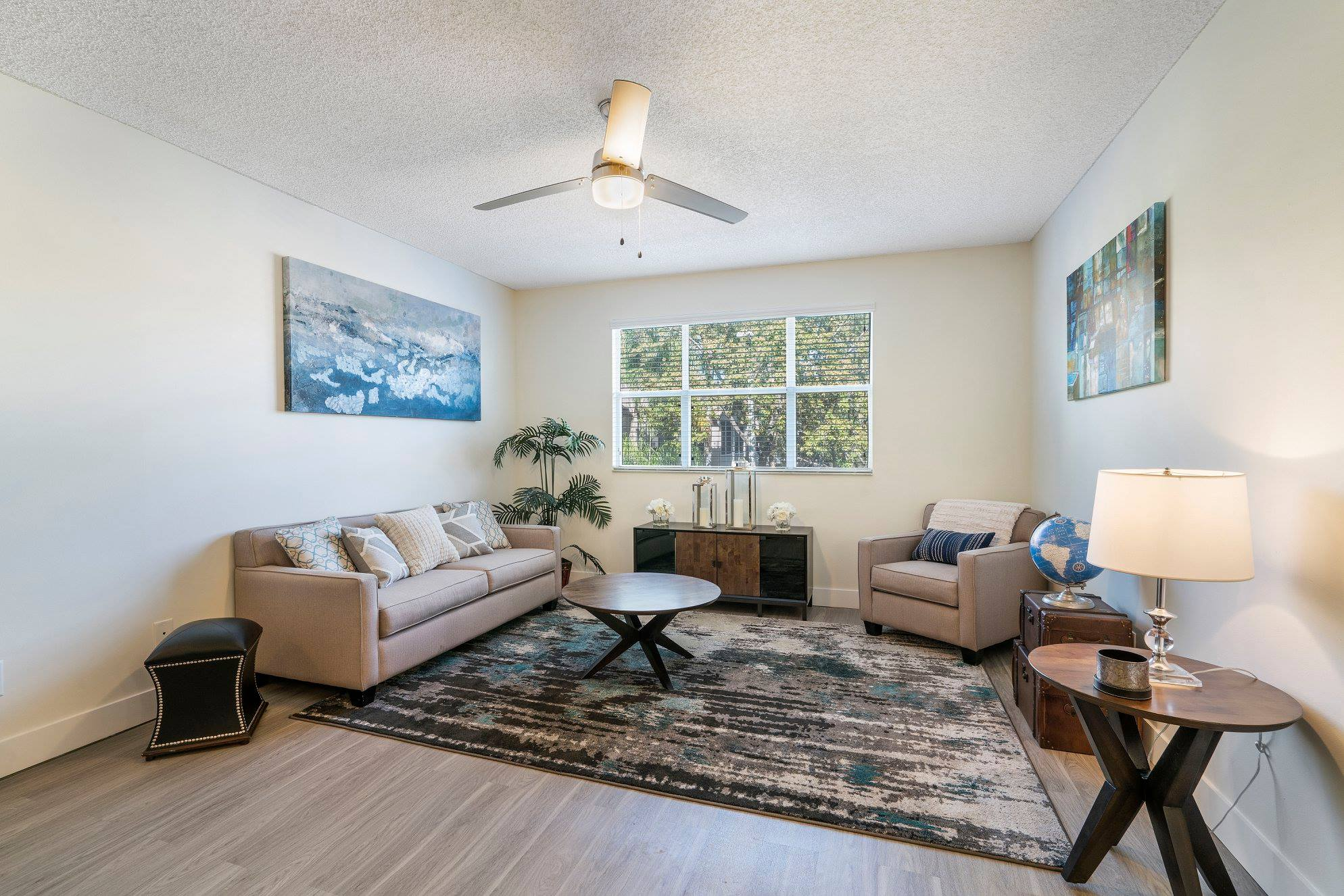 Modern Interiors at Windsor Castle Apartments in Coral Springs, Florida