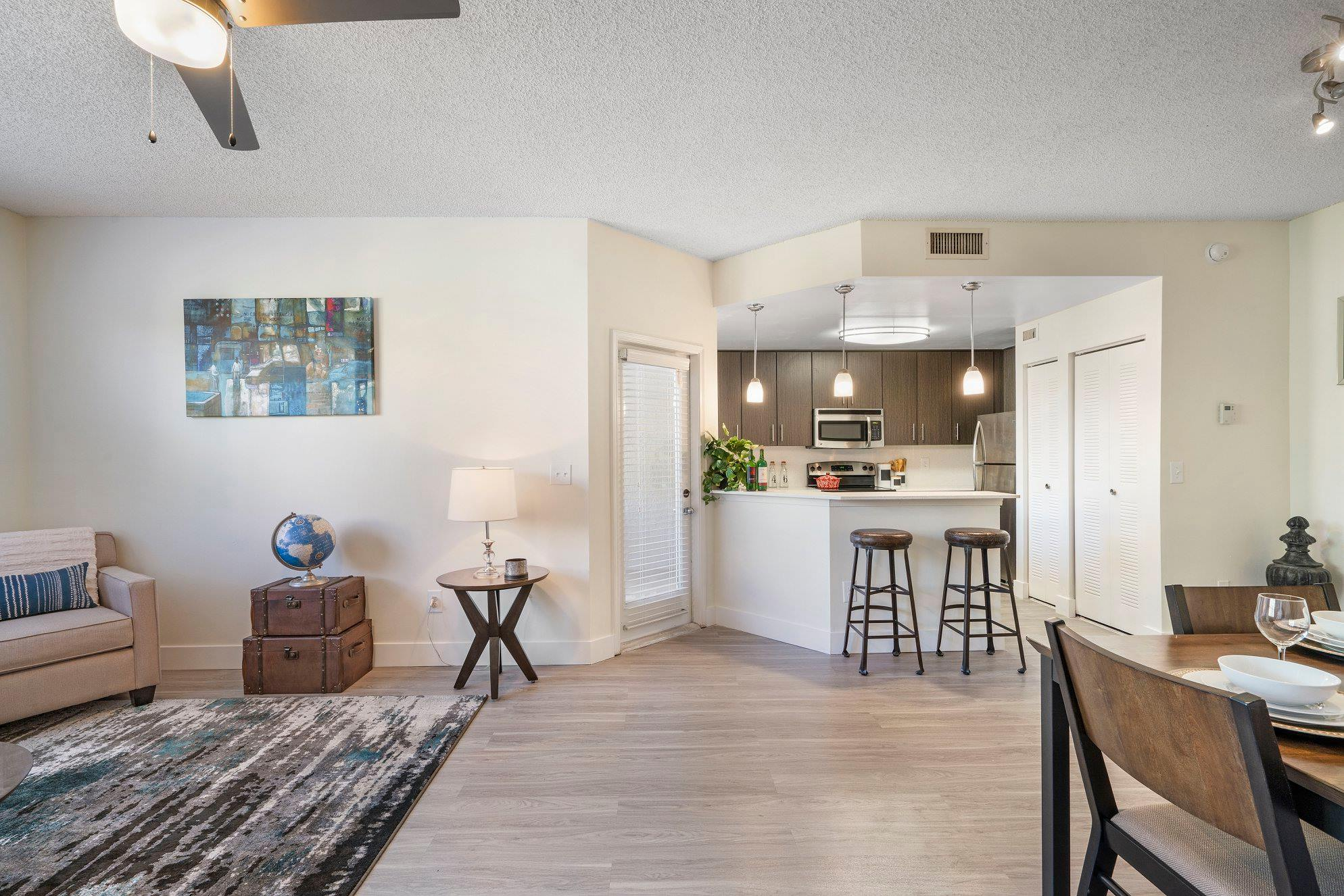 Wood-Looking Flooring at Windsor Castle Apartments in Coral Springs, Florida