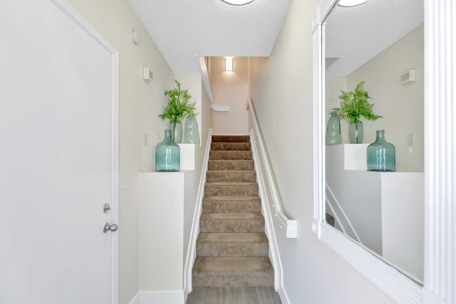 Stairway at Windsor Castle Apartments in Coral Springs, Florida