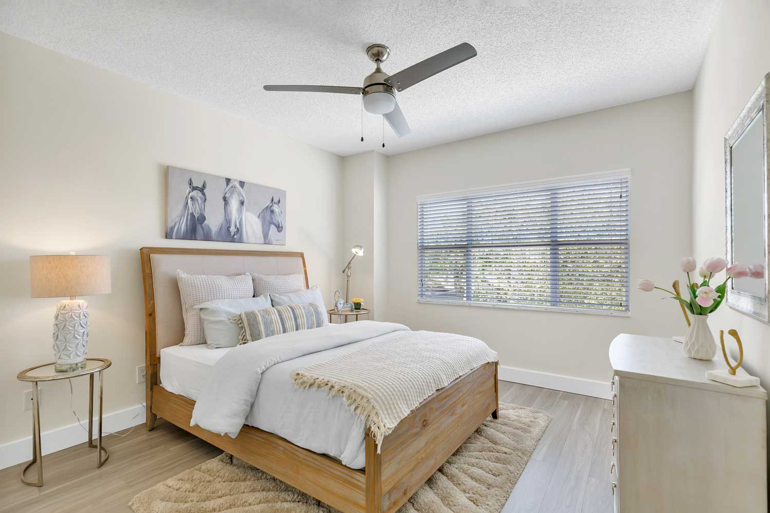 Bedroom at Windsor Castle Apartments in Coral Springs, Florida