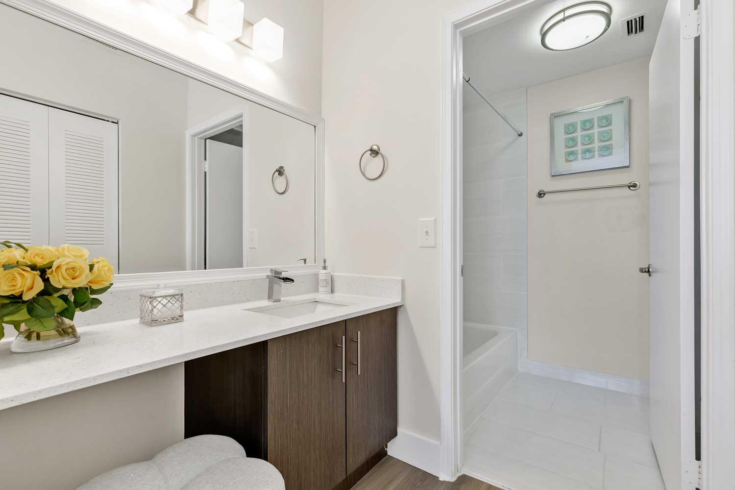 Bathroom at Windsor Castle Apartments in Coral Springs, Florida