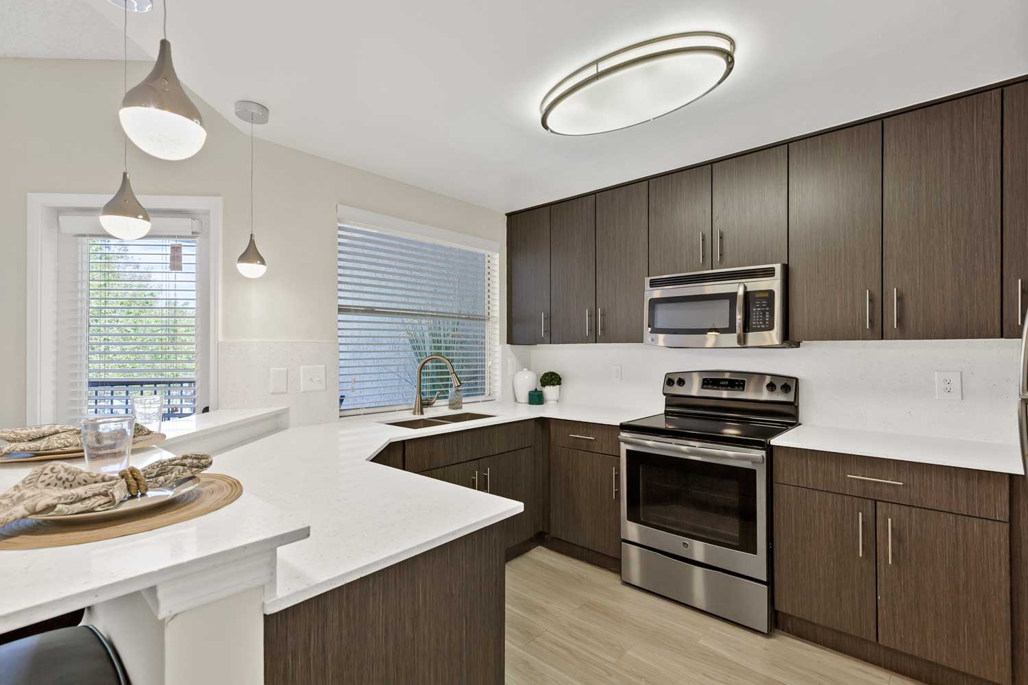 Cabinets at Windsor Castle Apartments in Coral Springs, Florida