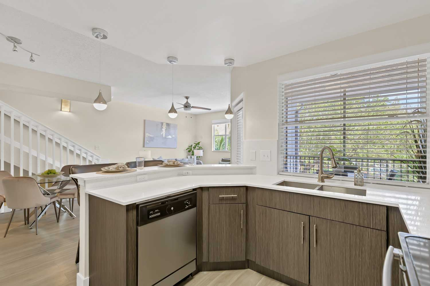 Spacious Kitchen at Windsor Castle Apartments in Coral Springs, Florida