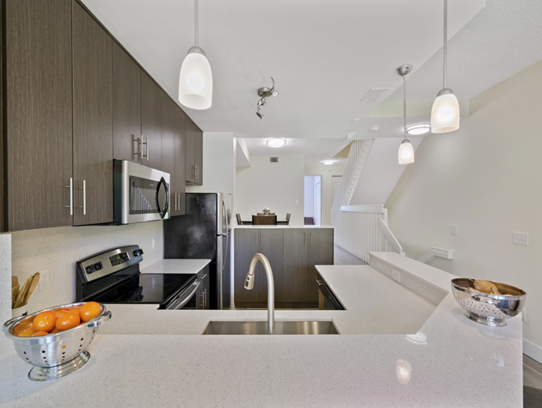 Fully Equipped Kitchen  at Windsor Castle Apartments in Coral Springs, Florida