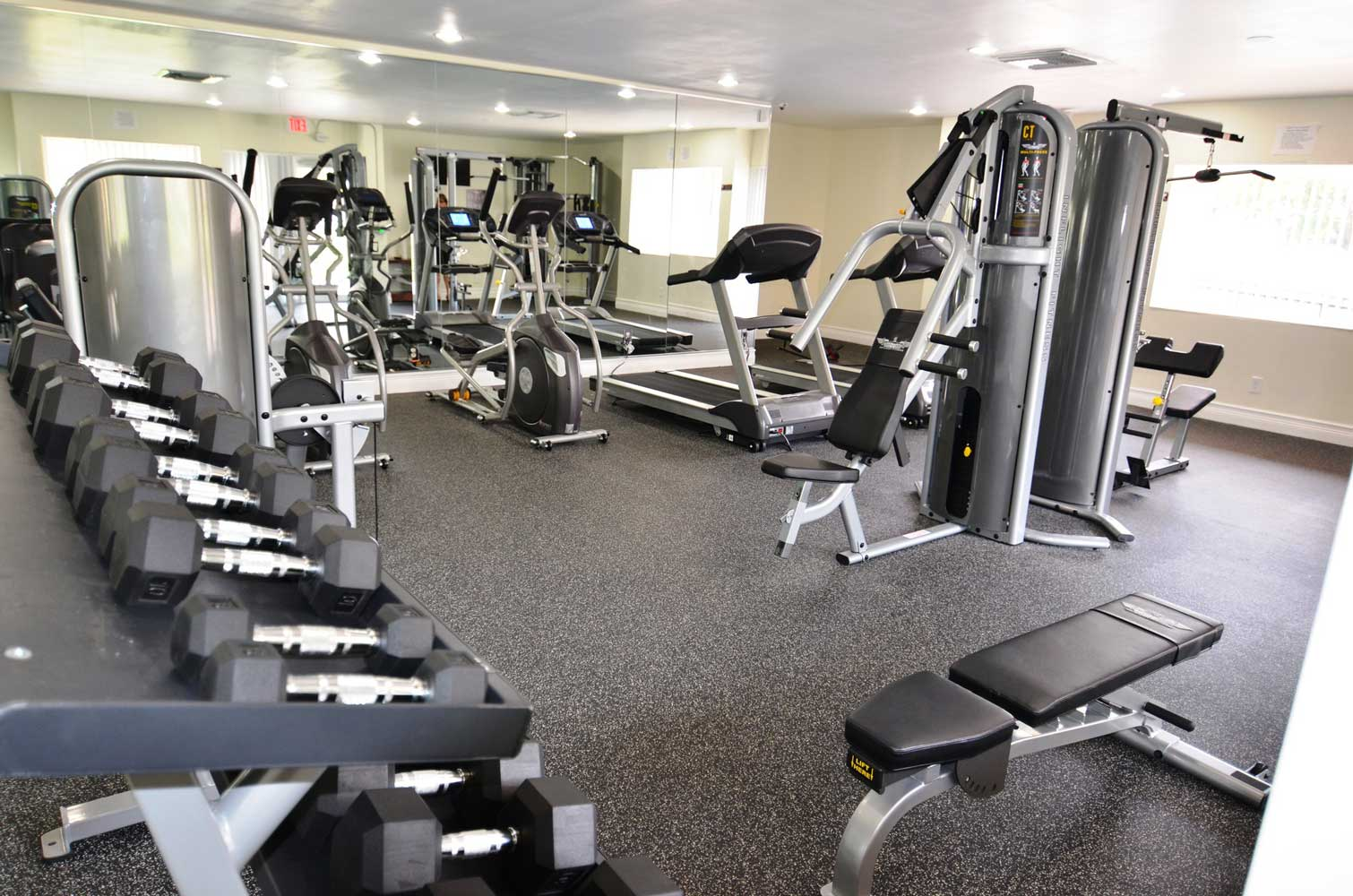 Fitness Center at Windsor Forest Apartments in Pompano Beach, FL