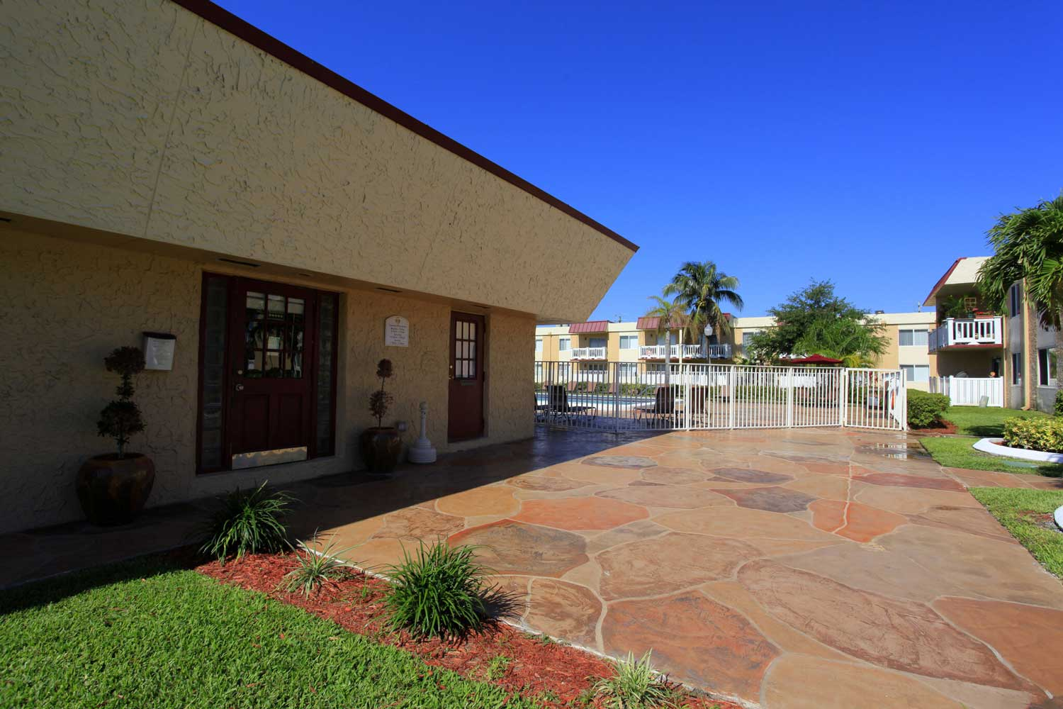 Leasing Center with Management Team at Windsor Forest Apartments in Pompano Beach, FL