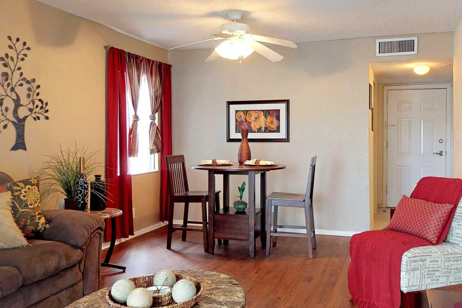 Spacious Living Room at Windsor Forest Apartments in Pompano Beach, FL