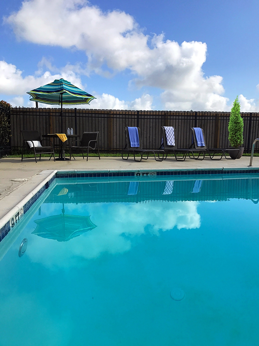 Resort-Style Swimming Pool at Windsor Park Apartments in Victoria, Texas