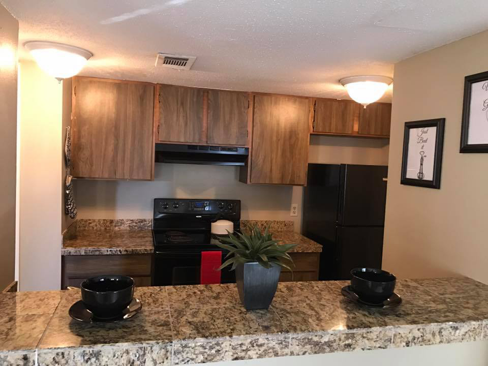 Fully-Equipped Kitchens at Windsor Park Apartments in Victoria, Texas