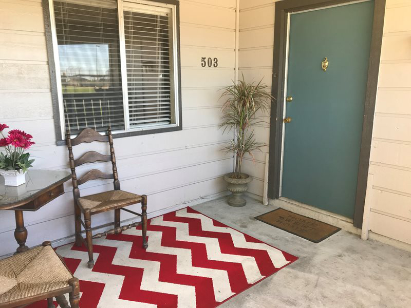 Private Patio at Windsor Park Apartments in Victoria, Texas