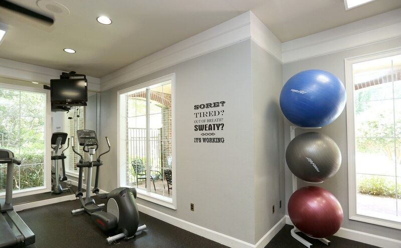 Inclusive Fitness Area at Windward Place Apartments in Alpharetta, Georgia