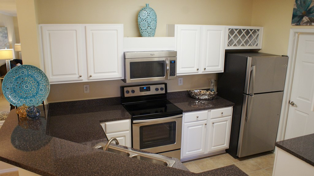 Modern Appliances at Windward Place Apartments in Alpharetta, Georgia