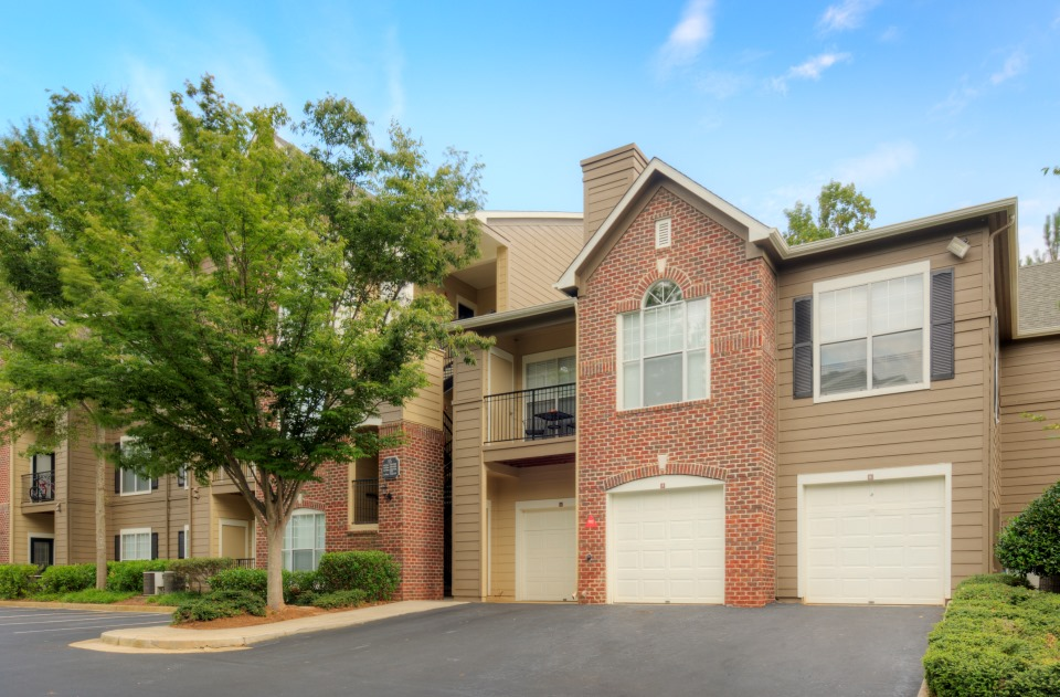 Apartment Townhomes with Garages at Windward Place Apartments in Alpharetta, Georgia