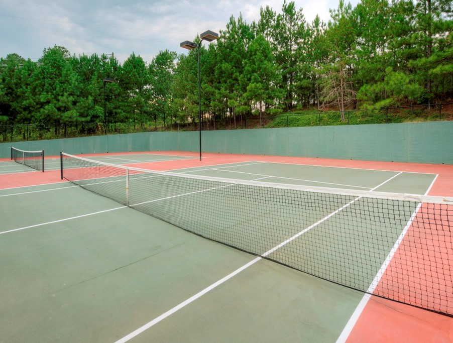Tennis Courts at Windward Place Apartments in Alpharetta, Georgia