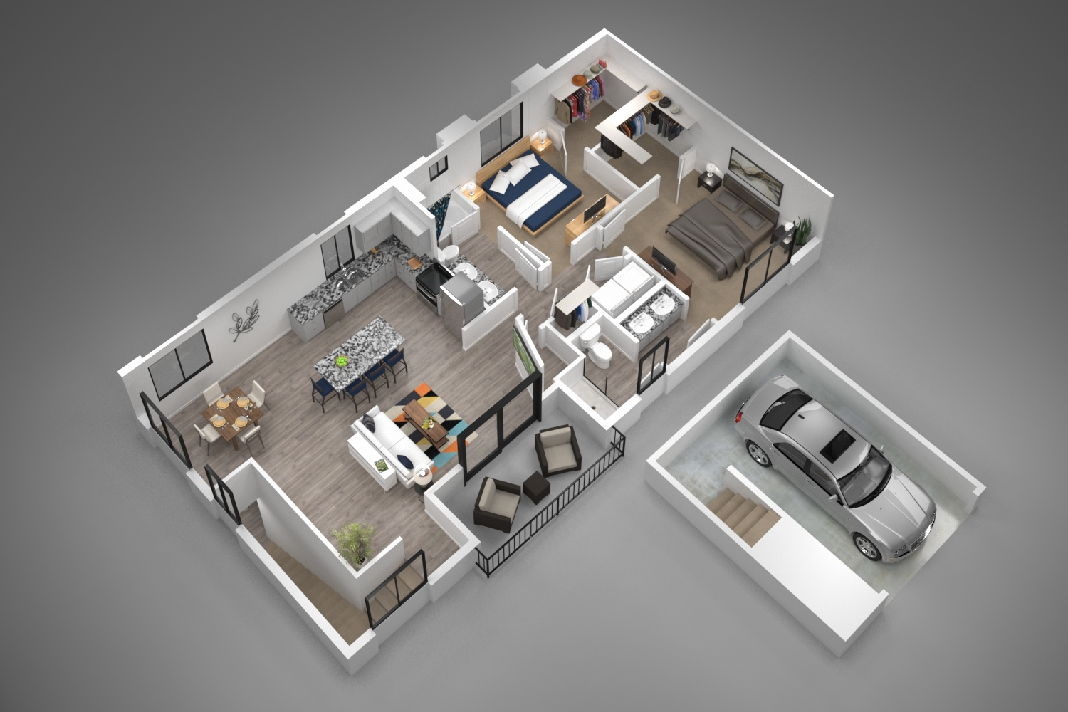 Winfield at the Ranch - Floorplan - 2B Loft