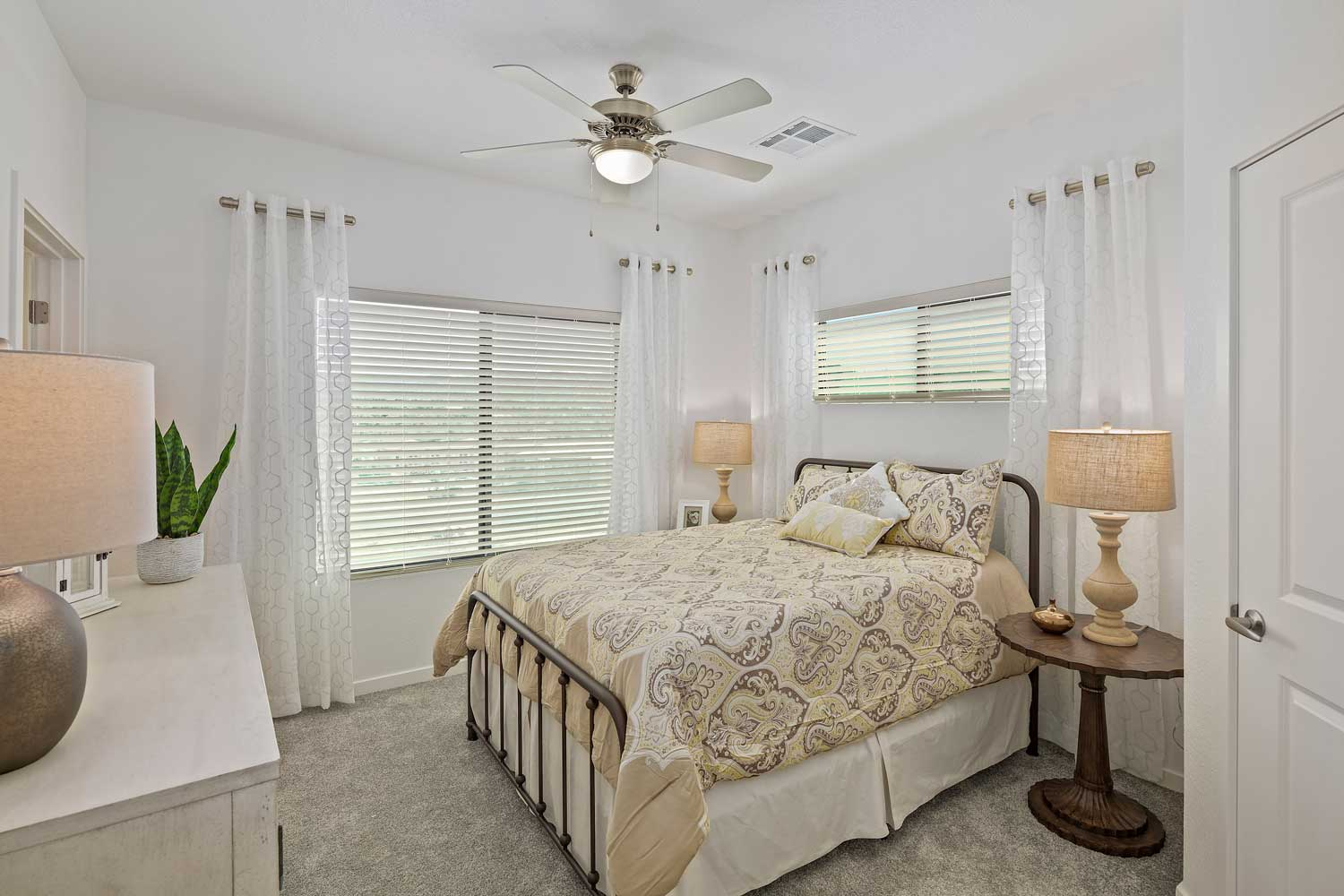 Bedroom with Ceiling Fan at Winfield at the Ranch Apartments in Prescott, AZ