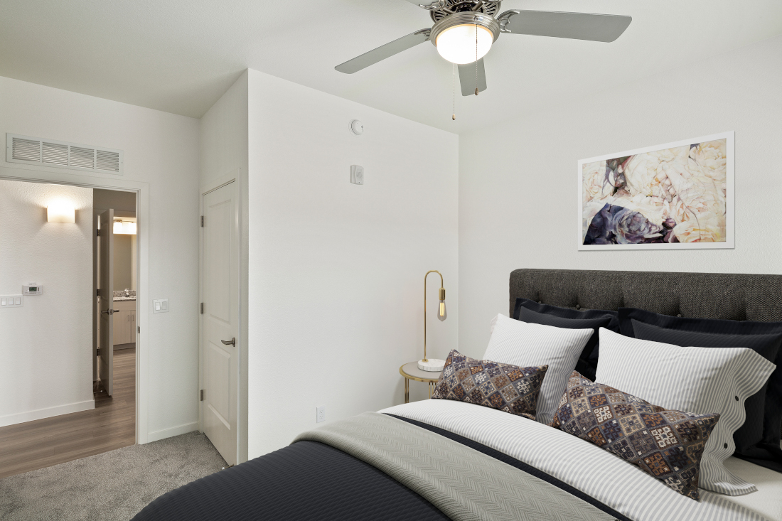Room with Ceiling Fan at Winfield at the Ranch Apartments in Prescott, AZ