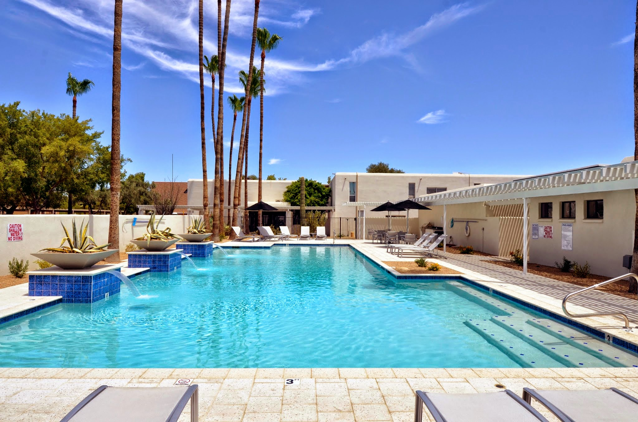 Resort-Style Pool at The Winfield of Scottsdale Apartments in Scottsdale, Arizona