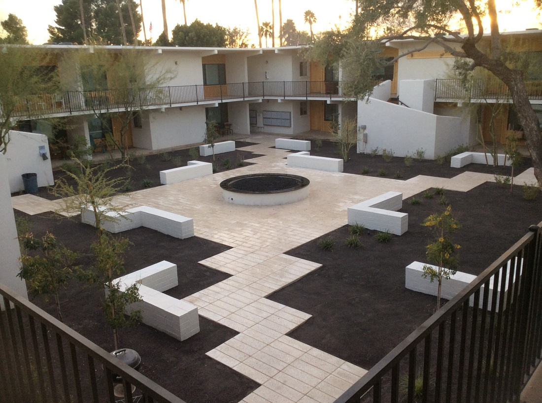 Outdoor Gathering Spaces at The Winfield of Scottsdale Apartments in Scottsdale, Arizona
