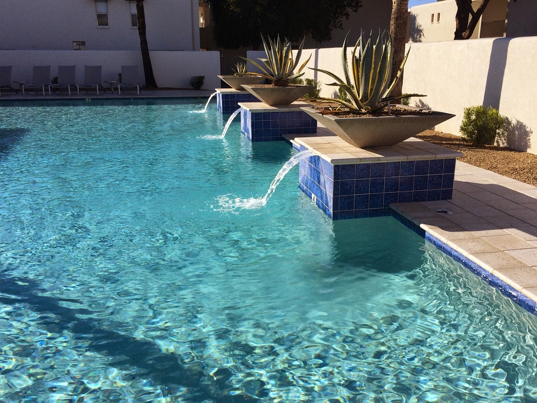 Luxury Swimming Pool at The Winfield of Scottsdale Apartments in Scottsdale, Arizona