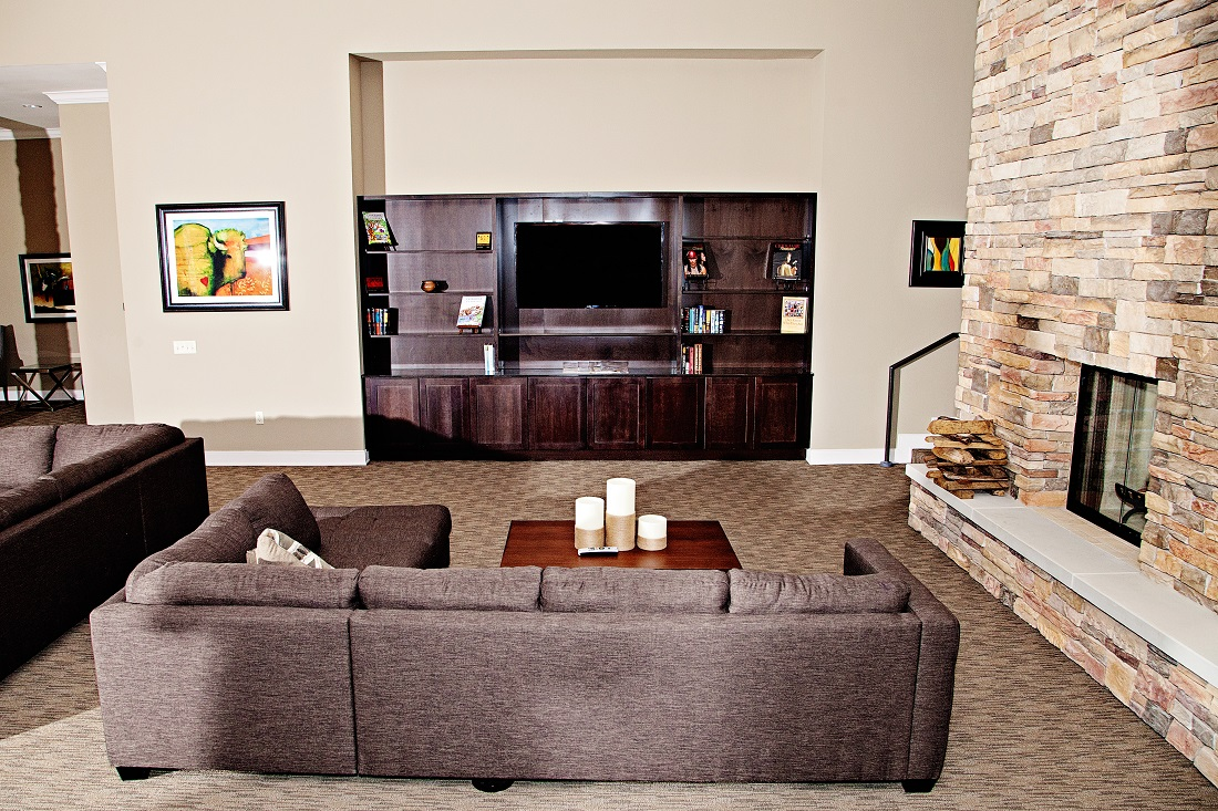 Living Area at the Central Park at Winstar Village Apartments in Thackerville, OK