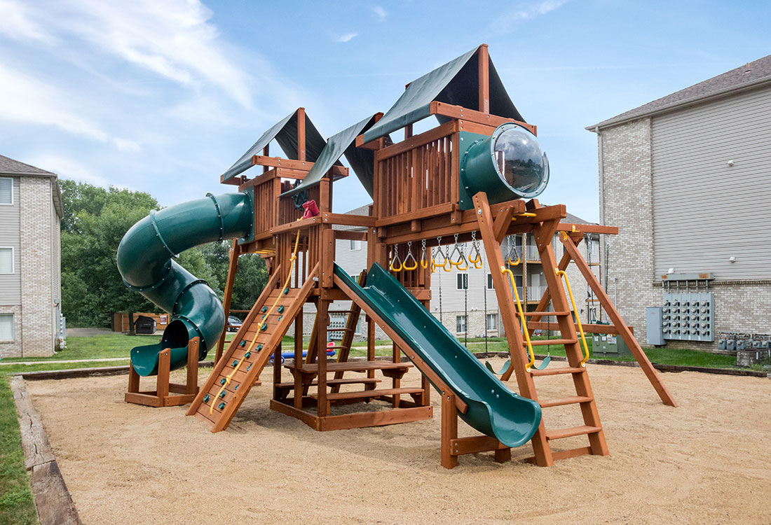 Children's Playground at Woodbury Heights Apartments in Sioux City, IA