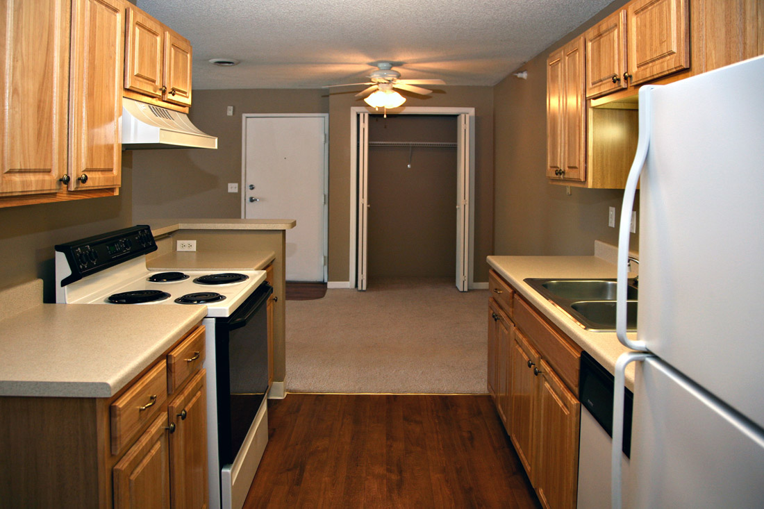 Beautiful Wood-Look Flooring at Woodbury Heights Apartments in Sioux City, IA