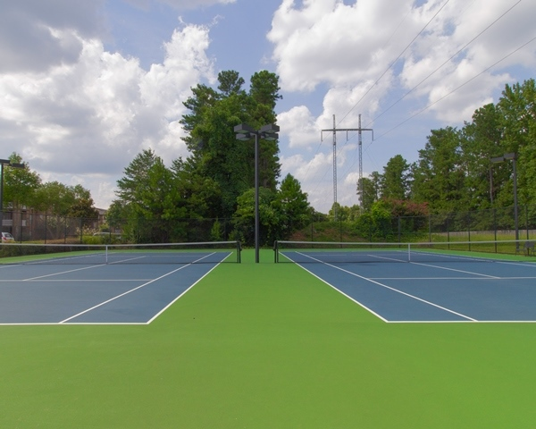 Community Sports Court at Woodhaven at Park Bridge Apartments in Alpharetta, Georgia
