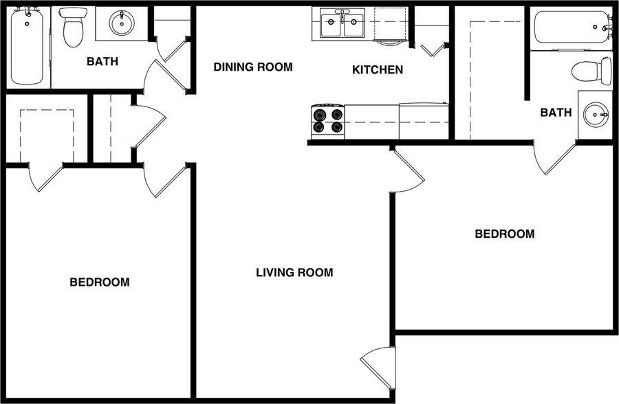 Woodland Hills - Floorplan - 2BR