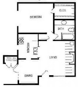 The Woodlands Apartments - Floorplan - Diana
