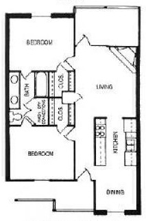 The Woodlands Apartments - Floorplan - Earl