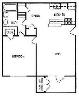 The Woodlands Apartments - Floorplan - The Charleston
