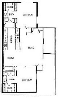 The Woodlands Apartments - Floorplan - The Gables