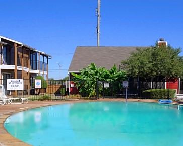 Sparkling Swimming Pool at The Woodlands Apartments in Fort Worth, Texas