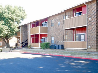 Private Balconies At The Woodlands Apartments in Fort Worth, Texas