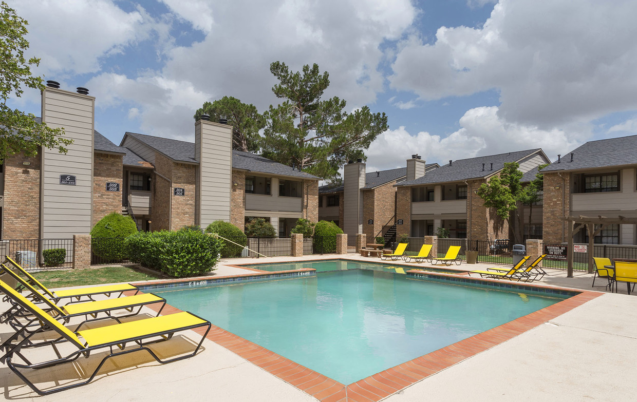 Sparkling Swimming Pool at Woodlands Apartments in Odessa, Texas