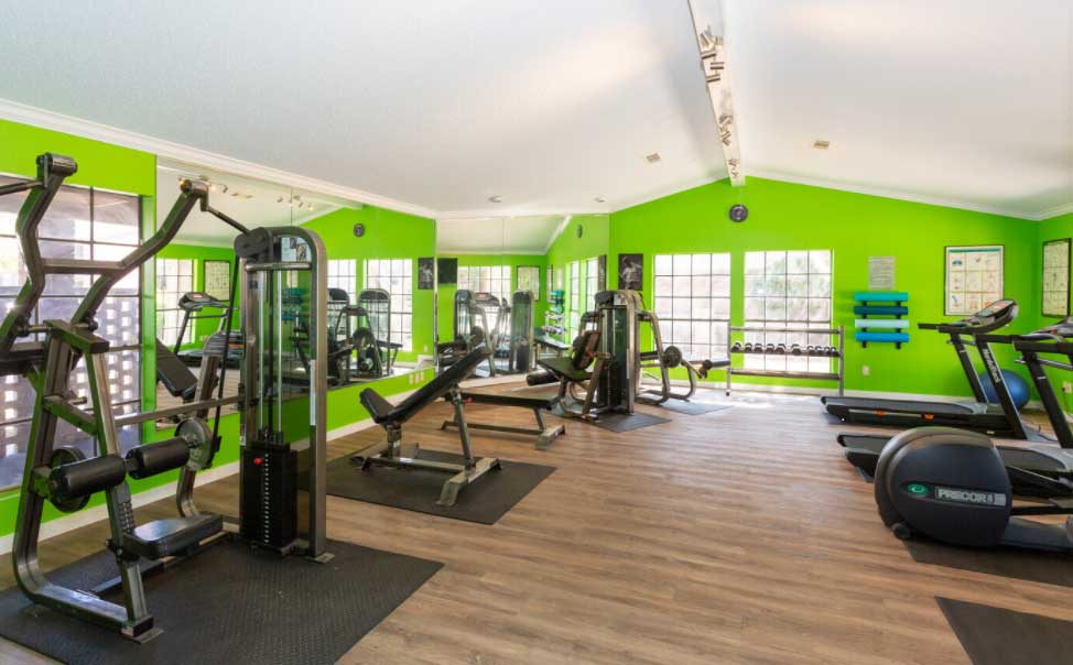 Fitness Gym at Woodlands Apartments in Odessa, Texas