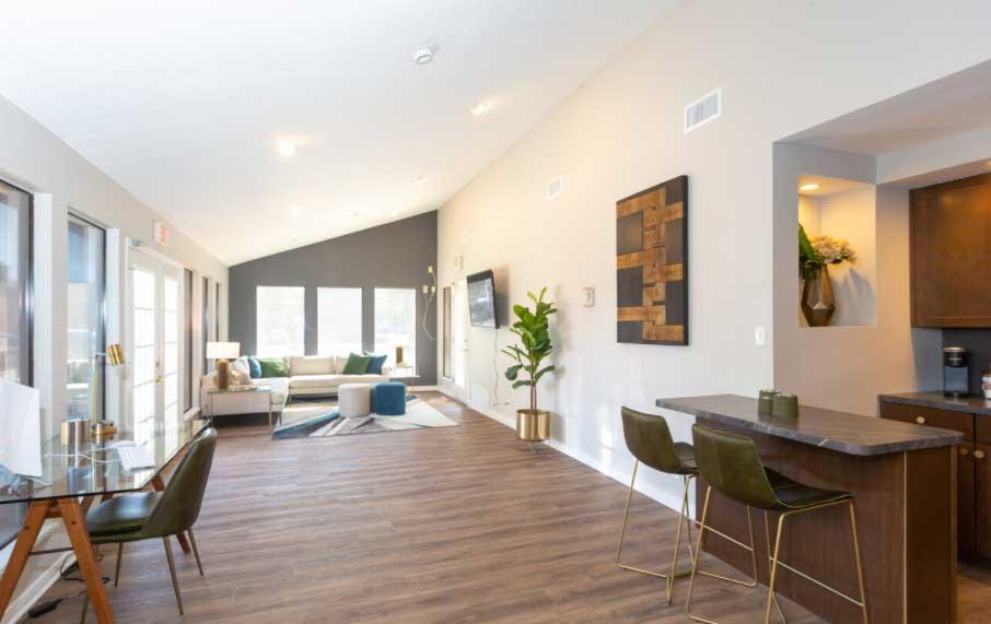 Laminated Hardwood Flooring at Woodlands Apartments in Odessa, Texas