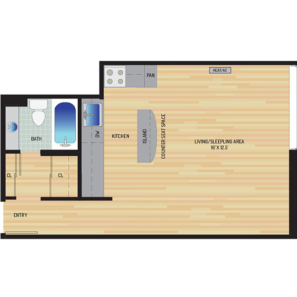 Woodmont Park Apartments - Floorplan - Studio
