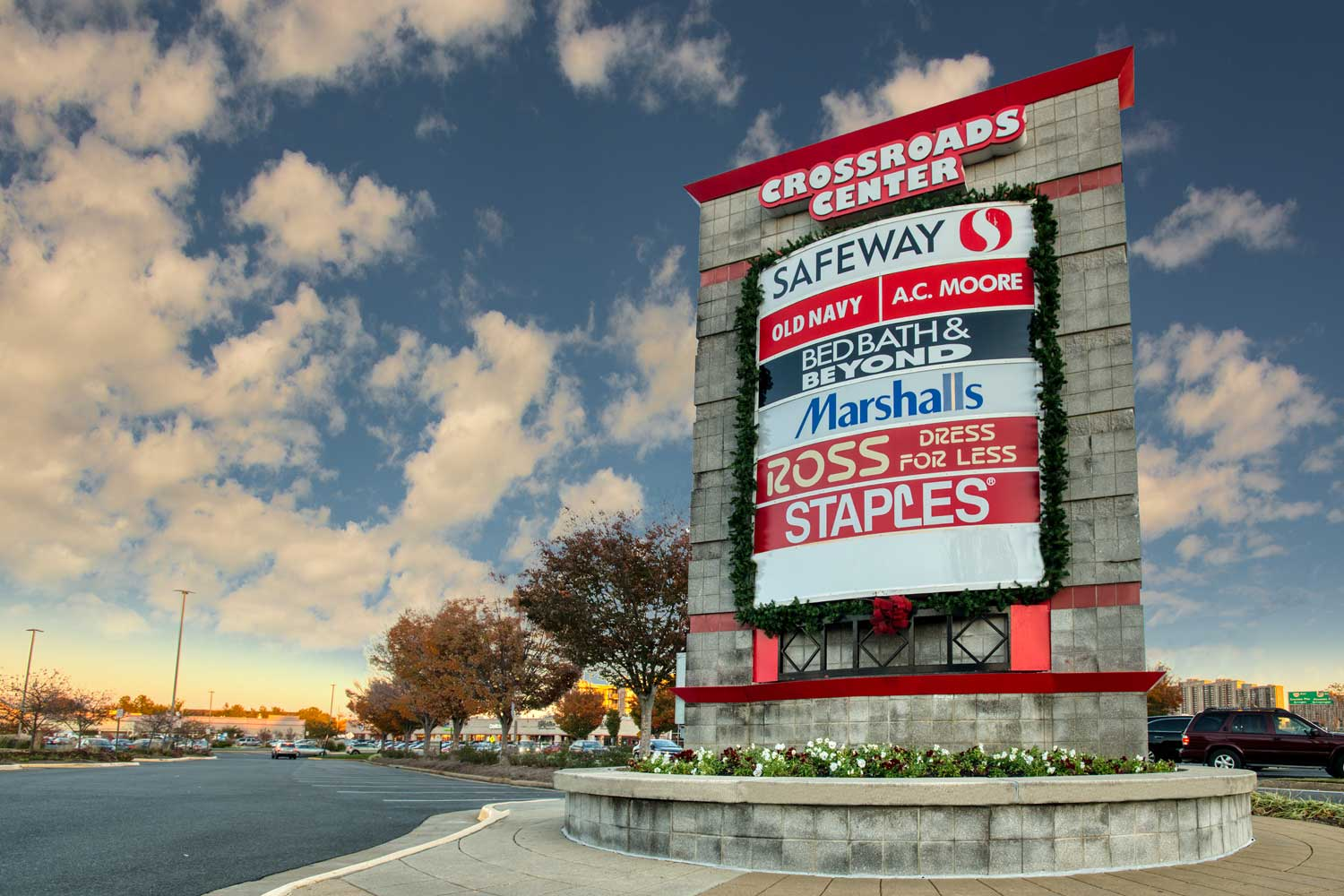 Crossroads Center is 10 minutes from Woodmont Park Apartments in Alexandria, VA